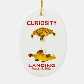 Curiosity Landing Aug 6, 3012 Double-Sided Oval Ceramic Christmas Ornament