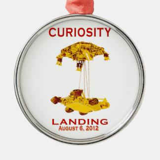 Curiosity Landing Aug 6, 3012 Round Metal Christmas Ornament