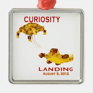 Curiosity Landing Aug 6, 3012 Square Metal Christmas Ornament
