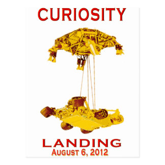 Curiosity Landing Aug 6, 3012 Postcard