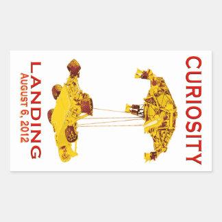 Curiosity Landing Aug 6, 3012 Rectangular Sticker