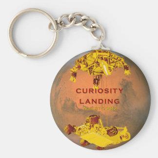 Curiosity Landing Basic Round Button Keychain