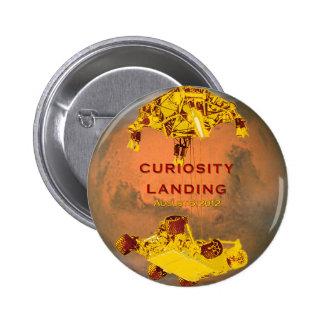 Curiosity Landing Pinback Buttons