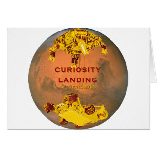 Curiosity Landing Card
