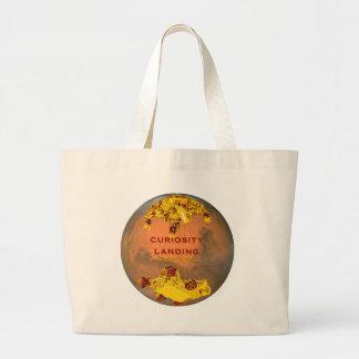 Curiosity Landing Large Tote Bag