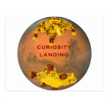Curiosity Landing Postcard