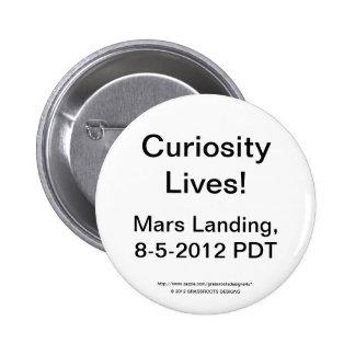 Curiosity Lives Mars Landing Date 8-5-2012 PDT Buttons