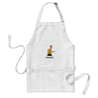 curiosity man adult apron