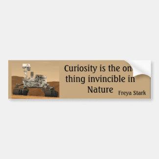Curiosity Mars Rover Invincible NASA Bumper Sticke Car Bumper Sticker
