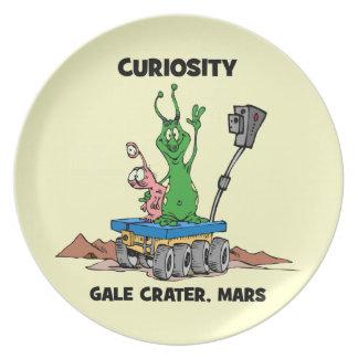 Curiosity Mars Rover Melamine Plate