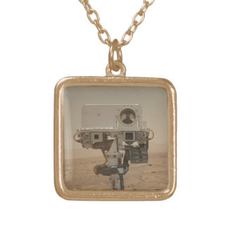 Curiosity on Mars Gold Plated Necklace
