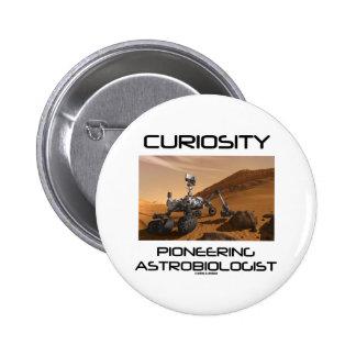 Curiosity Pioneering Astrobiologist Mars Rover Pins