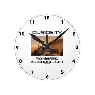 Curiosity Pioneering Astrobiologist (Mars Rover) Round Clock