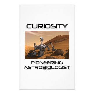 Curiosity Pioneering Astrobiologist (Mars Rover) Stationery