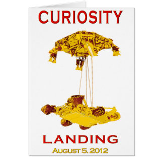 Curiosity Rover Landing (EDL) Team Logo Card