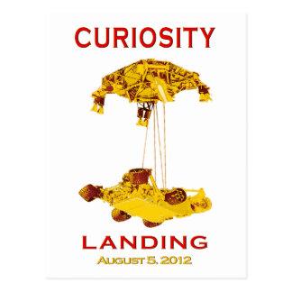 Curiosity Rover Landing (EDL) Team Logo Postcard