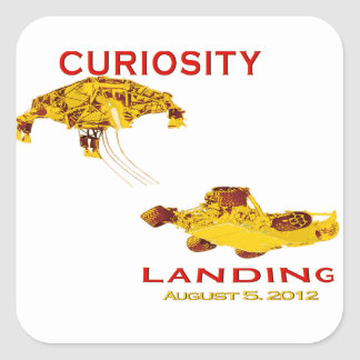 Curiosity Rover Landing (EDL) Team Logo Square Sticker