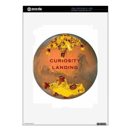 Curiosity Rover Landing Team Logo Decals For iPad 2