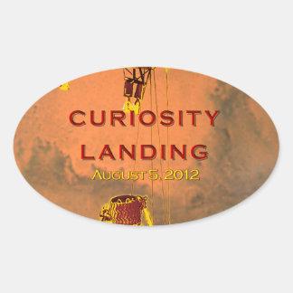 Curiosity Rover Landing Team Logo Oval Stickers