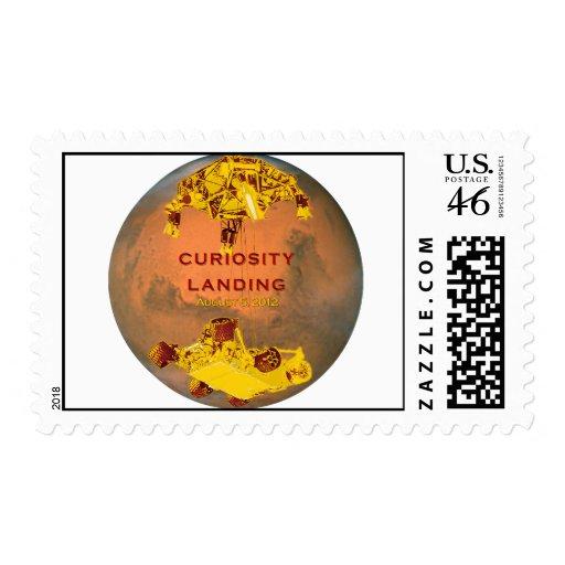 Curiosity Rover Landing Team Logo Stamp
