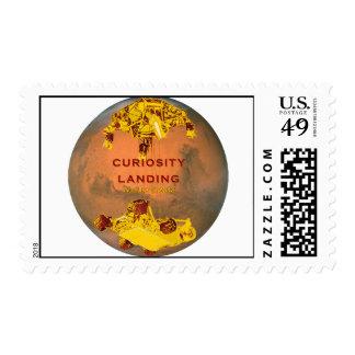 Curiosity Rover Landing Team Logo Postage