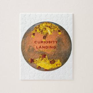 Curiosity Rover Landing Team Logo Jigsaw Puzzle