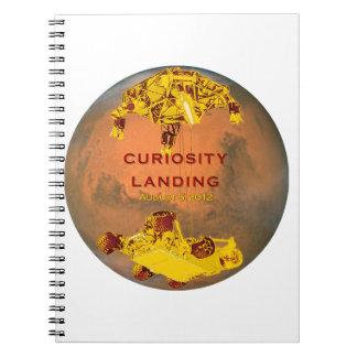 Curiosity Rover Landing Team Logo Spiral Notebooks