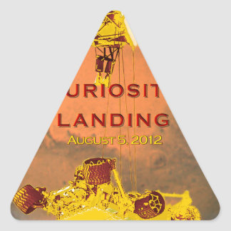 Curiosity Rover Landing Team Logo Triangle Sticker