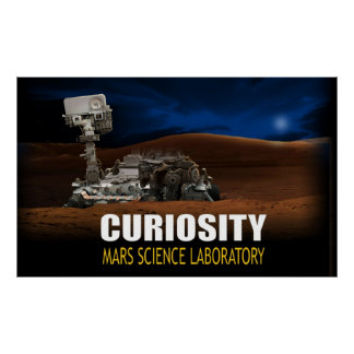 Curiosity Rover Poster