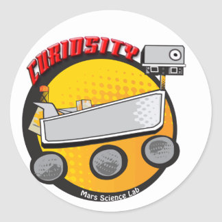 Curiosity Rover Round Sticker A