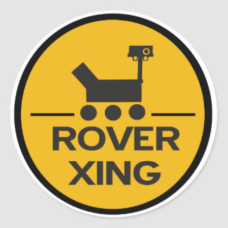 Curiosity Rover Xing Sticker