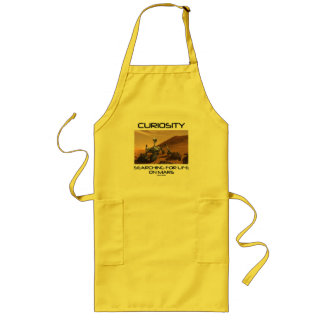 Curiosity Searching For Life On Mars (Mars Rover) Long Apron