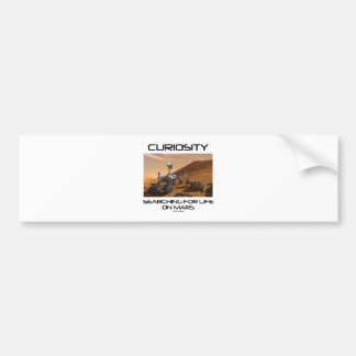 Curiosity Searching For Life On Mars (Mars Rover) Car Bumper Sticker