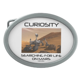 Curiosity Searching For Life On Mars (Mars Rover) Oval Belt Buckle