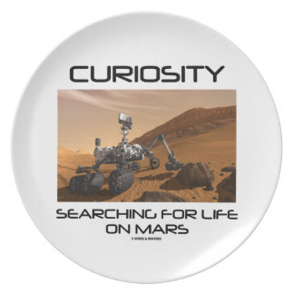 Curiosity Searching For Life On Mars (Mars Rover) Plate