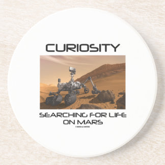 Curiosity Searching For Life On Mars (Mars Rover) Sandstone Coaster