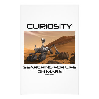 Curiosity Searching For Life On Mars (Mars Rover) Stationery
