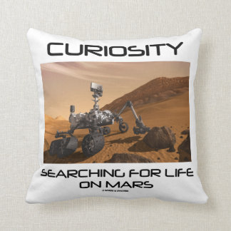 Curiosity Searching For Life On Mars (Mars Rover) Throw Pillow