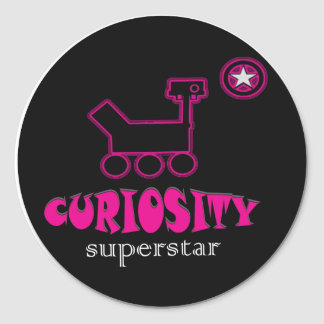Curiosity Super Star  Pink Sticker