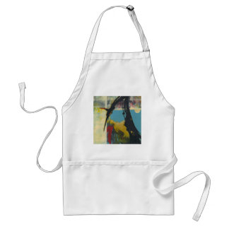 Curiosity the abstract dragon adult apron