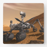 Curiosity: The Next Mars Rover Square Wall Clock