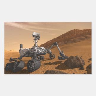 Curiosity: The Next Mars Rover Rectangle Sticker