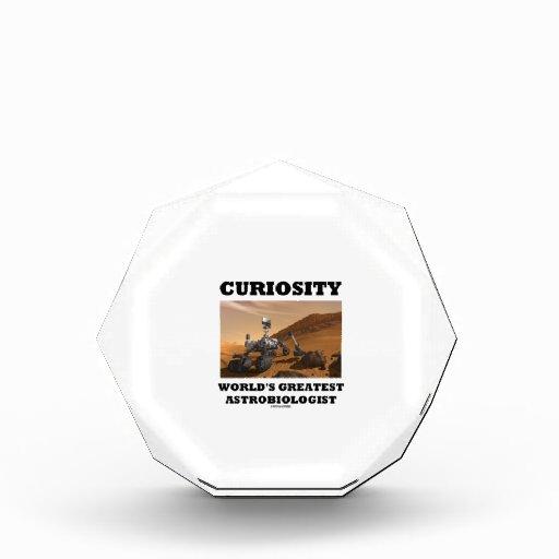 Curiosity World's Greatest Astrobiologist (Rover) Acrylic Award