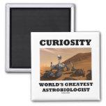 Curiosity World's Greatest Astrobiologist (Rover) Magnet