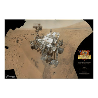 Curiosity's self-portrait on Mars Poster