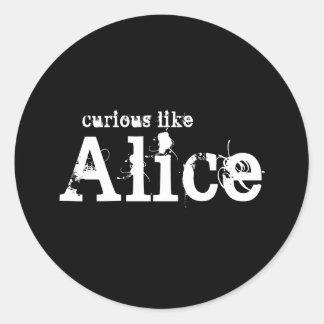 Curioso como el pegatina negro de Alicia