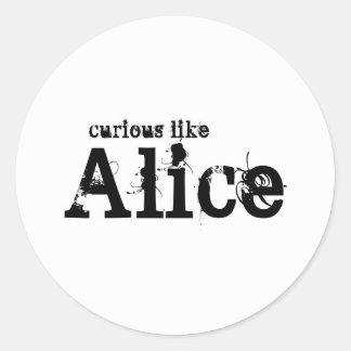 Curioso como los pegatinas del blanco de Alicia Pegatina Redonda
