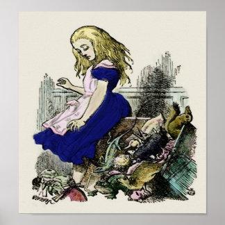 Curious Alice ~ Print Poster Wonderland