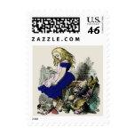 Curious Alice ~ Stamps Postage Wonderland