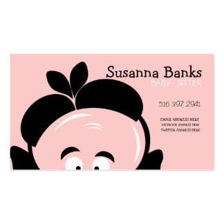 Curious Baby Babysitter Business Card